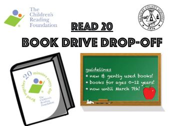 Bradley County Schools Read 20 Book Drive